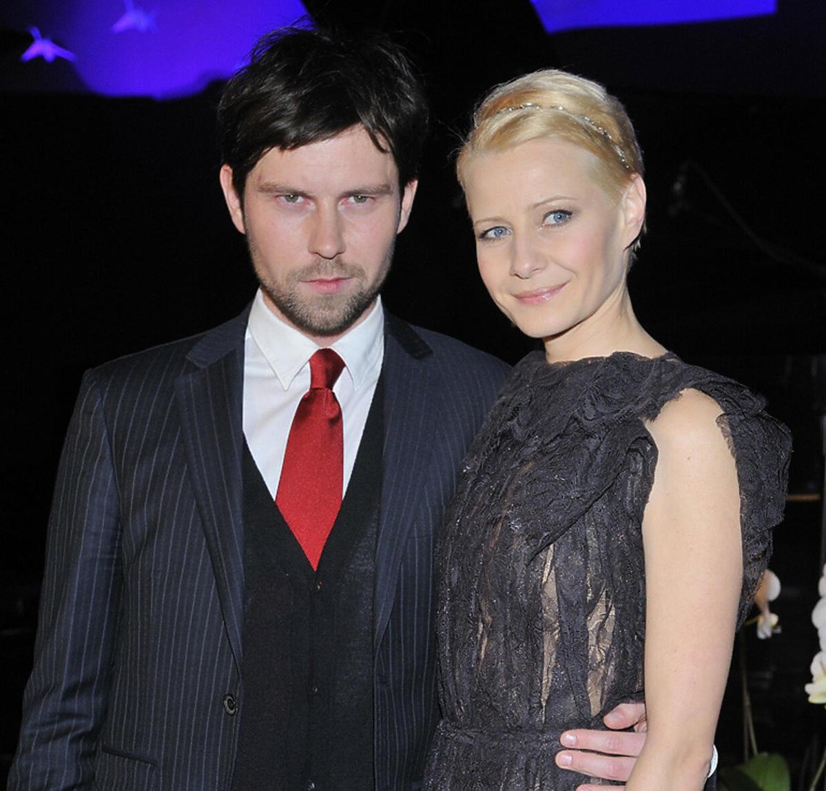 Małgorzata Kożuchowska z mężem