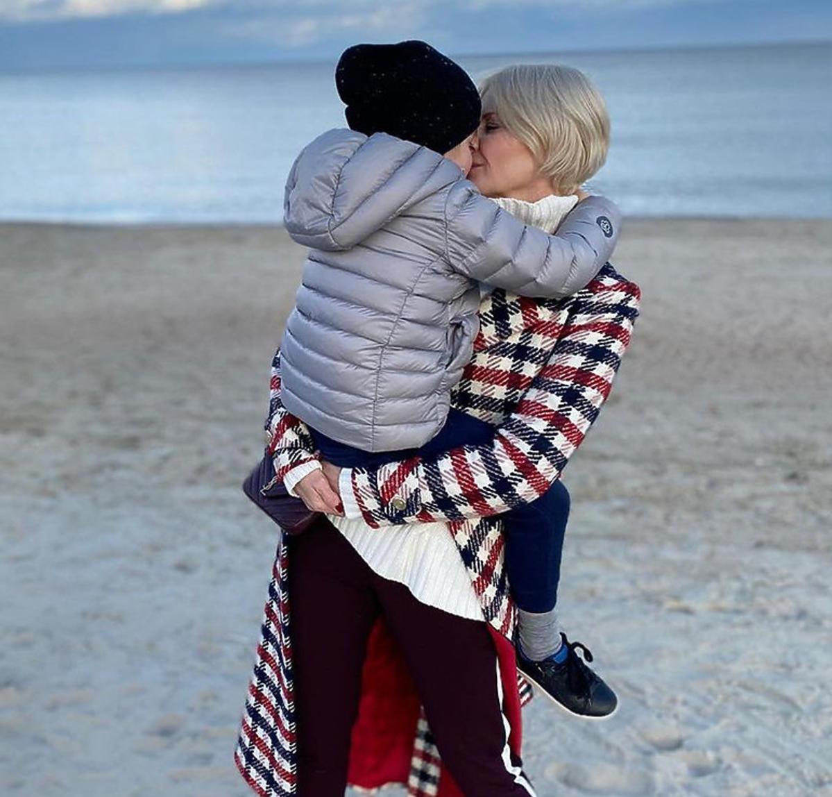 Małgorzata Kożuchowska z synem