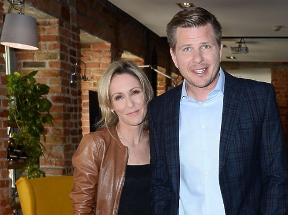 Małgorzata Ohme i Filip Chajzer na śniadaniu prasowym Big Brothera
