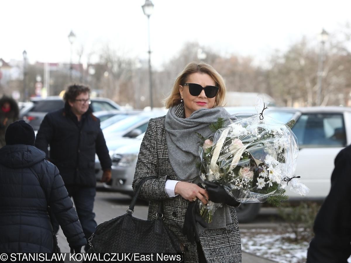 Małgorzata Ostrowska Królikowska na pogrzebie Agnieszki Kotulanki
