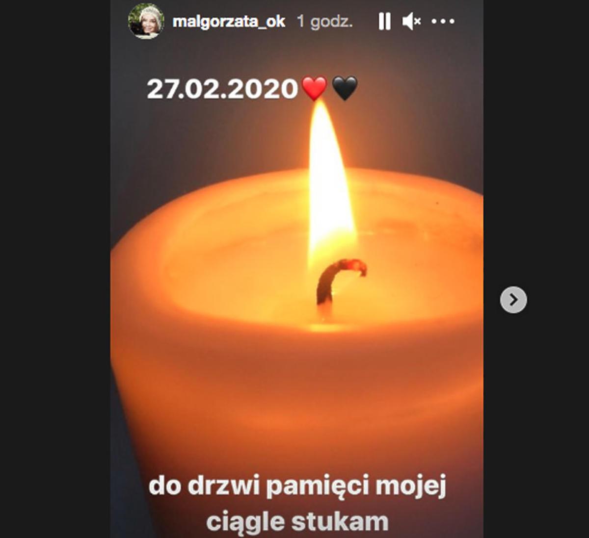 Małgorzata Ostrowska-Królikowska wspomina męża w rocznicę śmierci