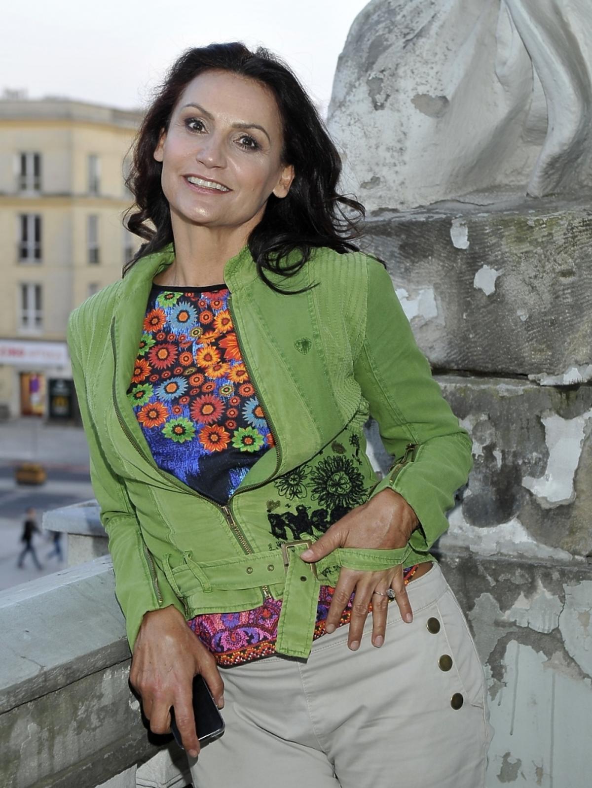 Małgorzata Pieczyńska na wręczeniu statuetek Gracji
