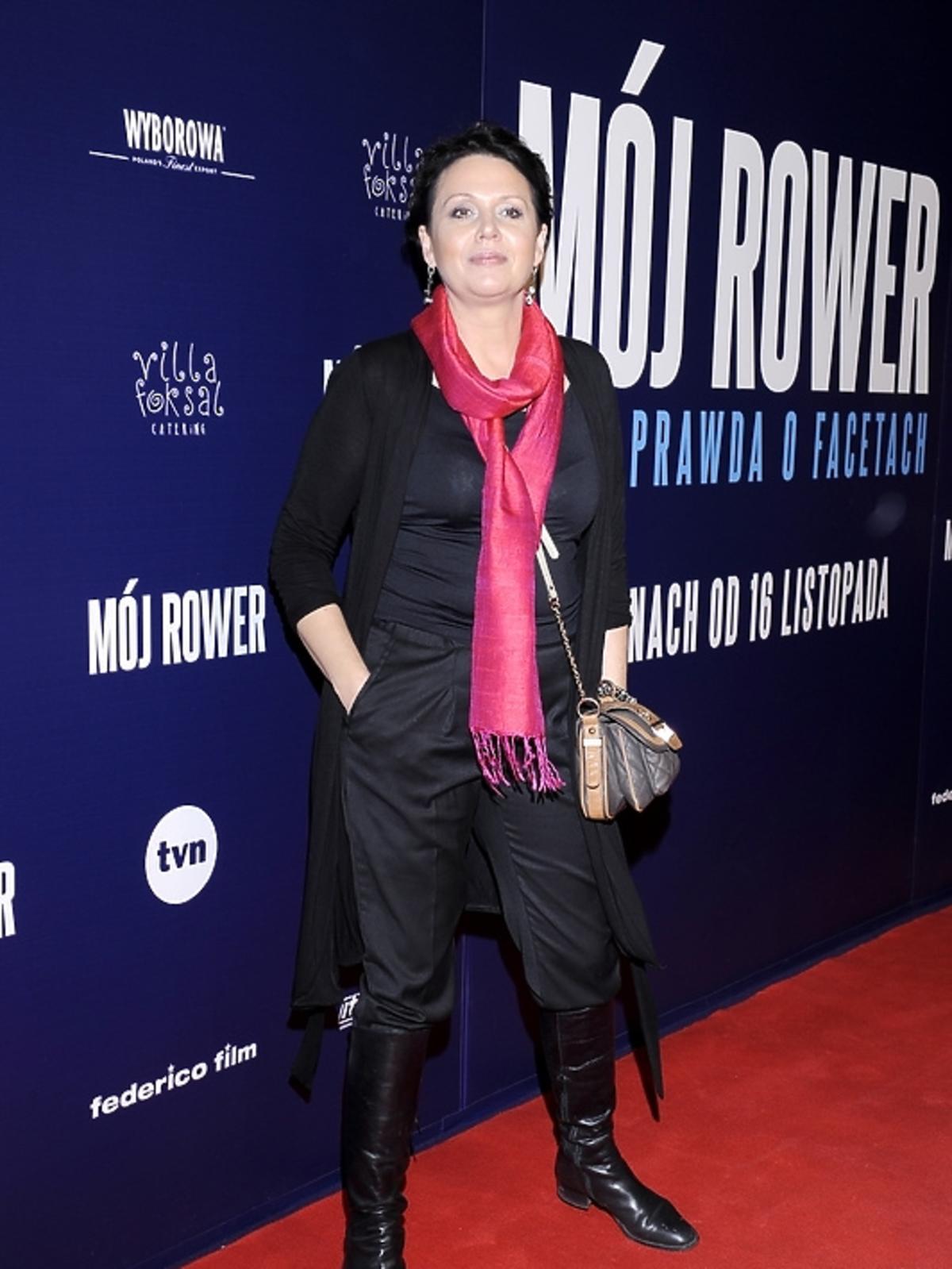 Małgorzata Pieńkowska na premierze filmu