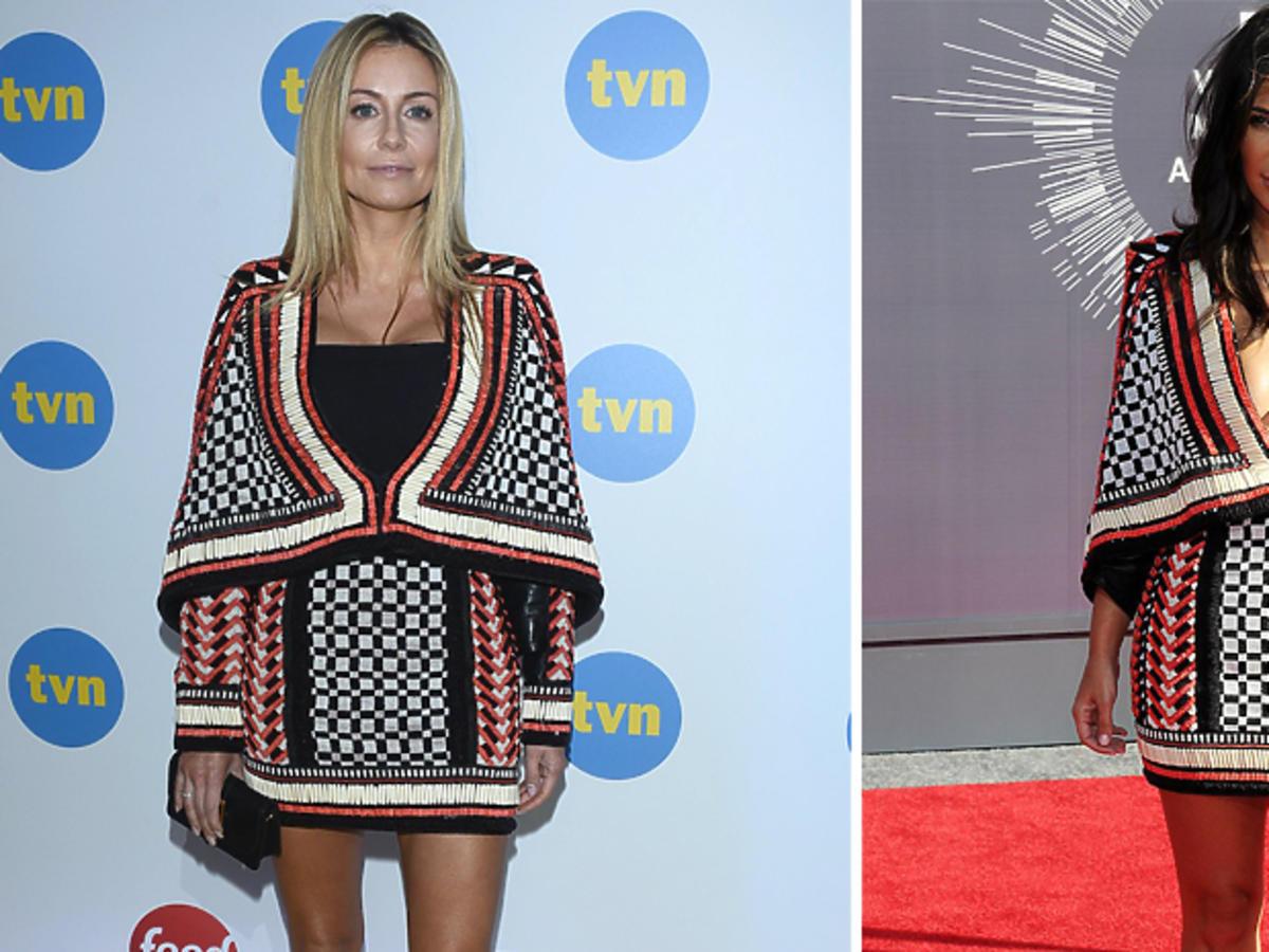 Małgorzata Rozenek i Kim Kardashian w sukience Belmain