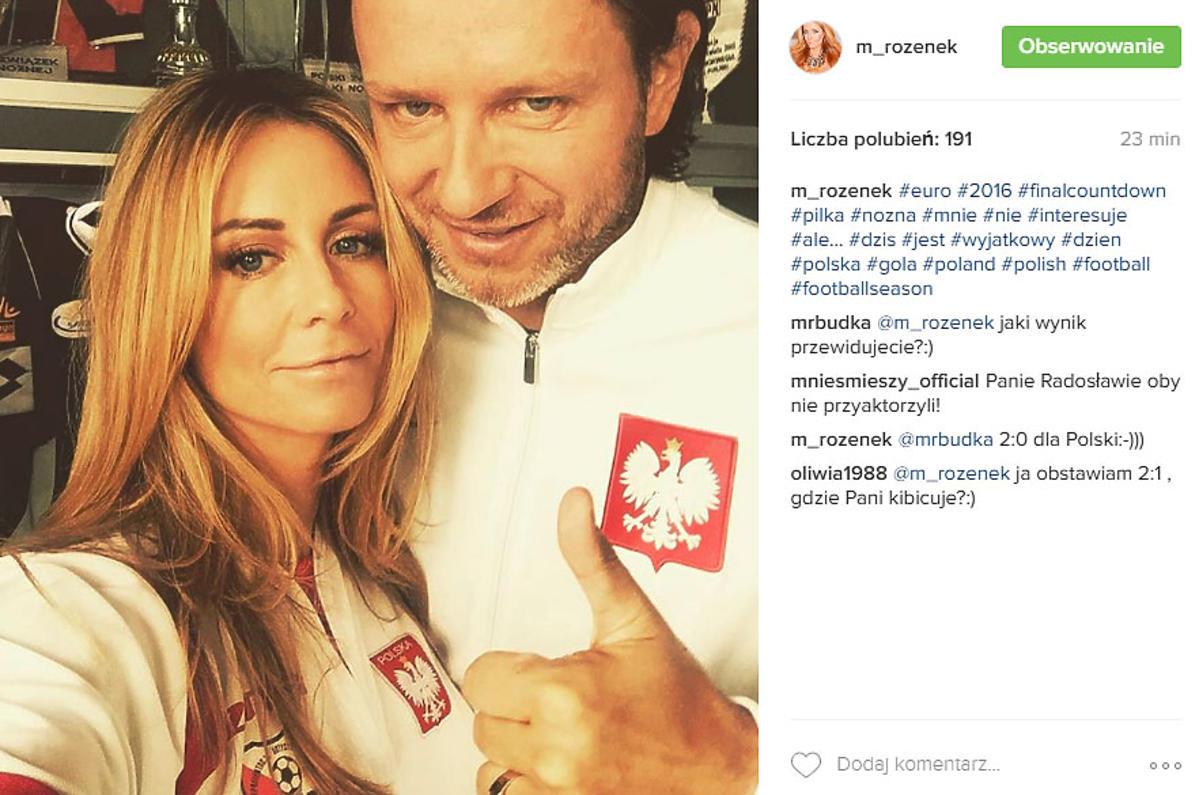 Małgorzata Rozenek i Radek Majdan kibicują Polsce