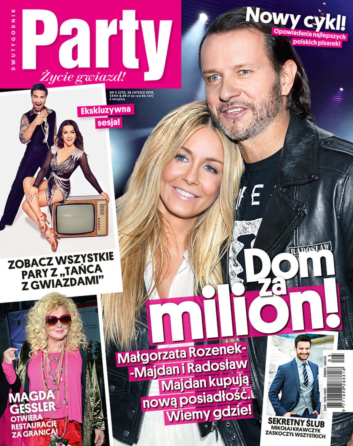 Małgorzata Rozenek i Radek Majdan na okładce Party