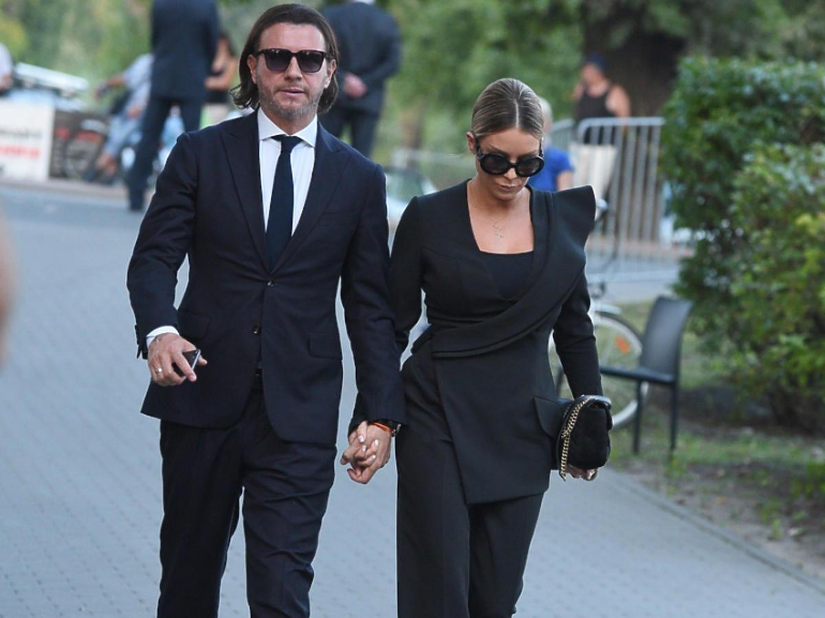 Małgorzata Rozenek i Radek Majdan na pogrzebie Piotra Woźniaka-Staraka