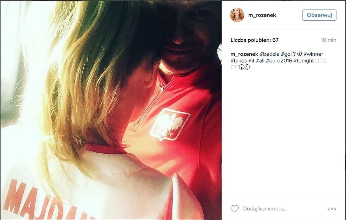 Małgorzata Rozenek i Radosław Majdan Instagram