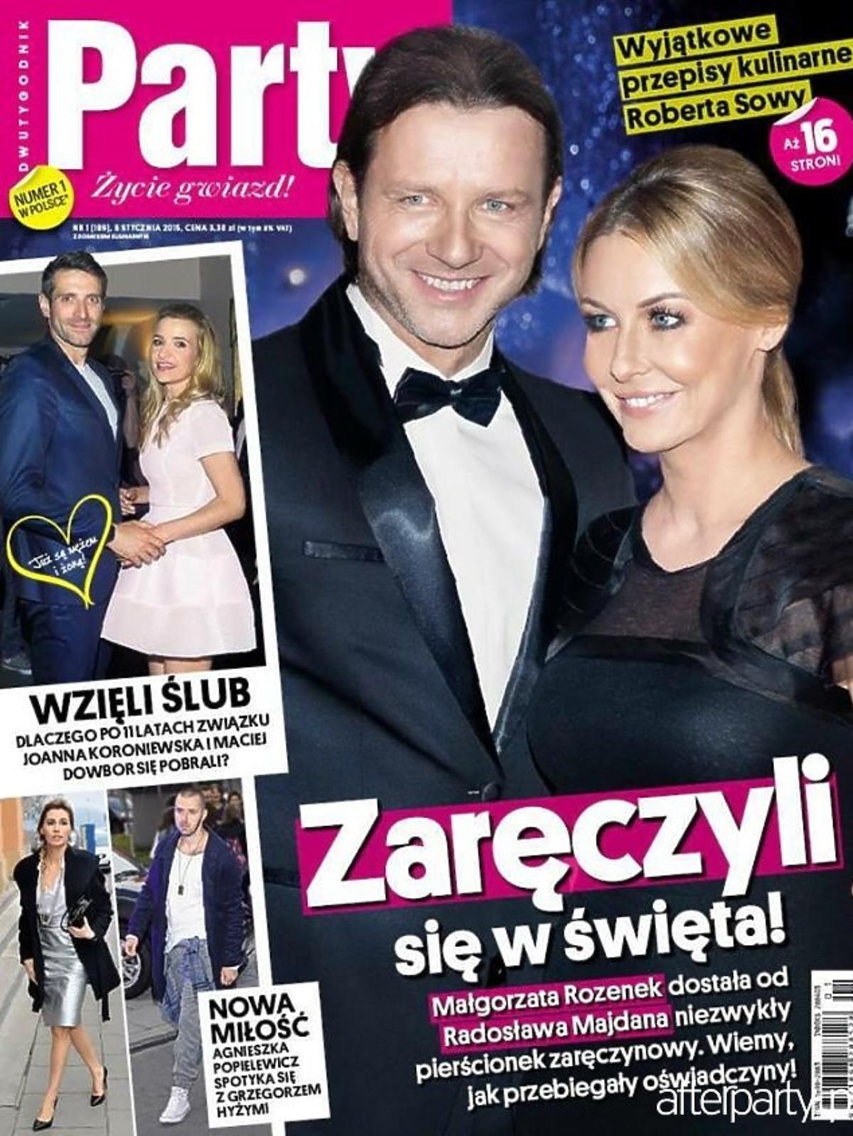 Małgorzata Rozenek i Radosław Majdan na okładce Party