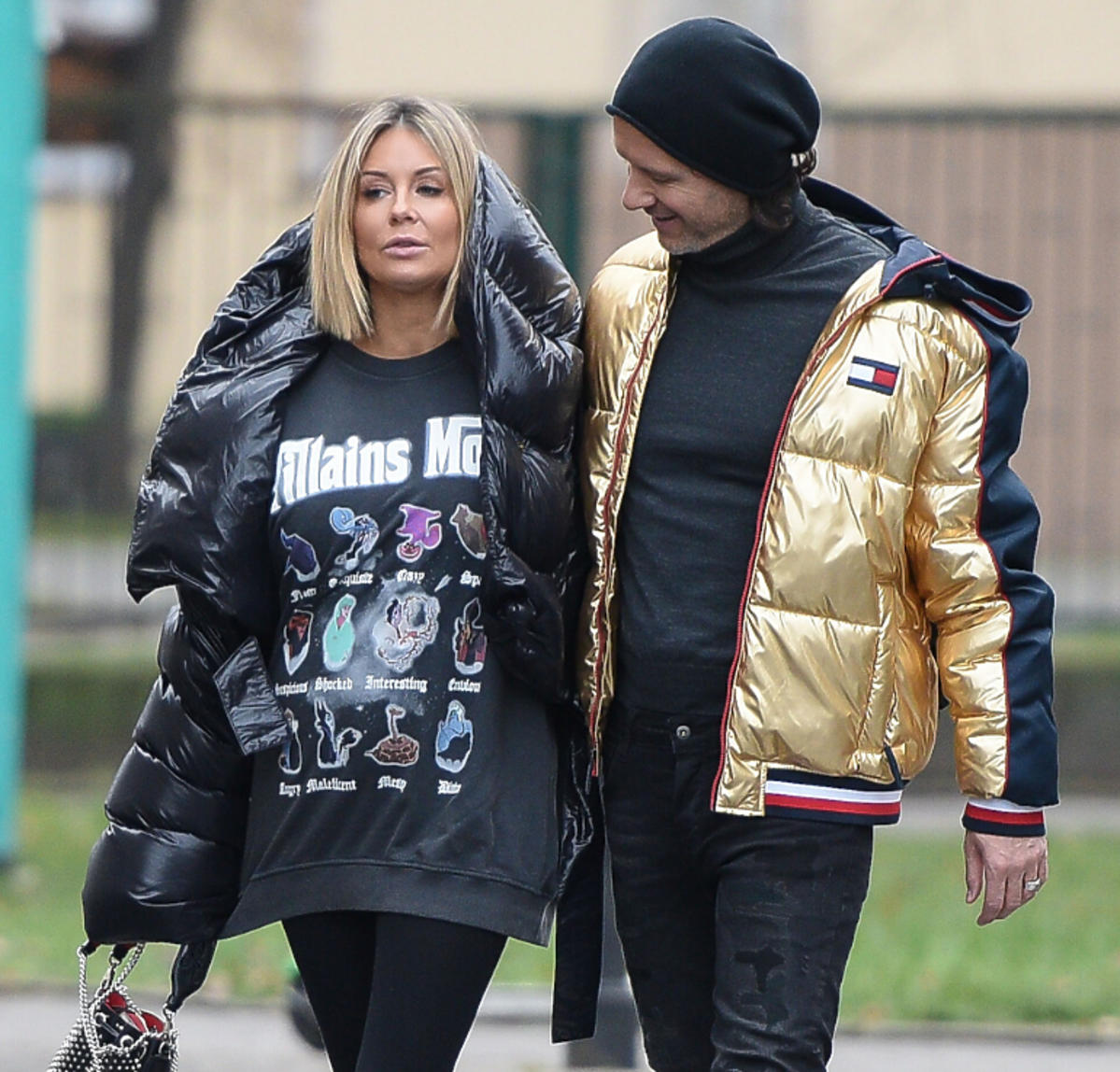 Małgorzata Rozenek i Radosłąw Majdan spacerują po Warszawie