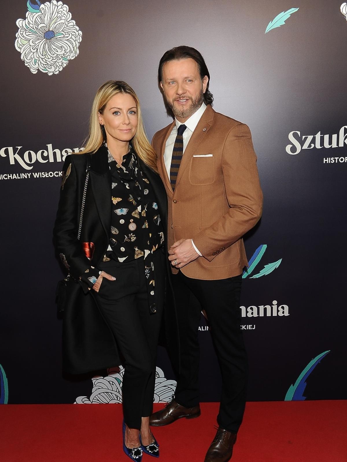 Małgorzata Rozenek Majdan i Radosław Majdan na premierze filmu Sztuka Kochania