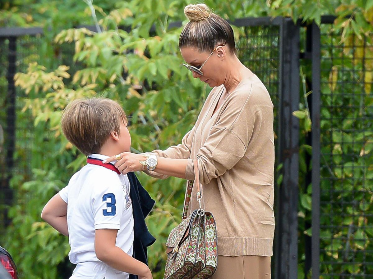 Małgorzata Rozenek-Majdan z synem