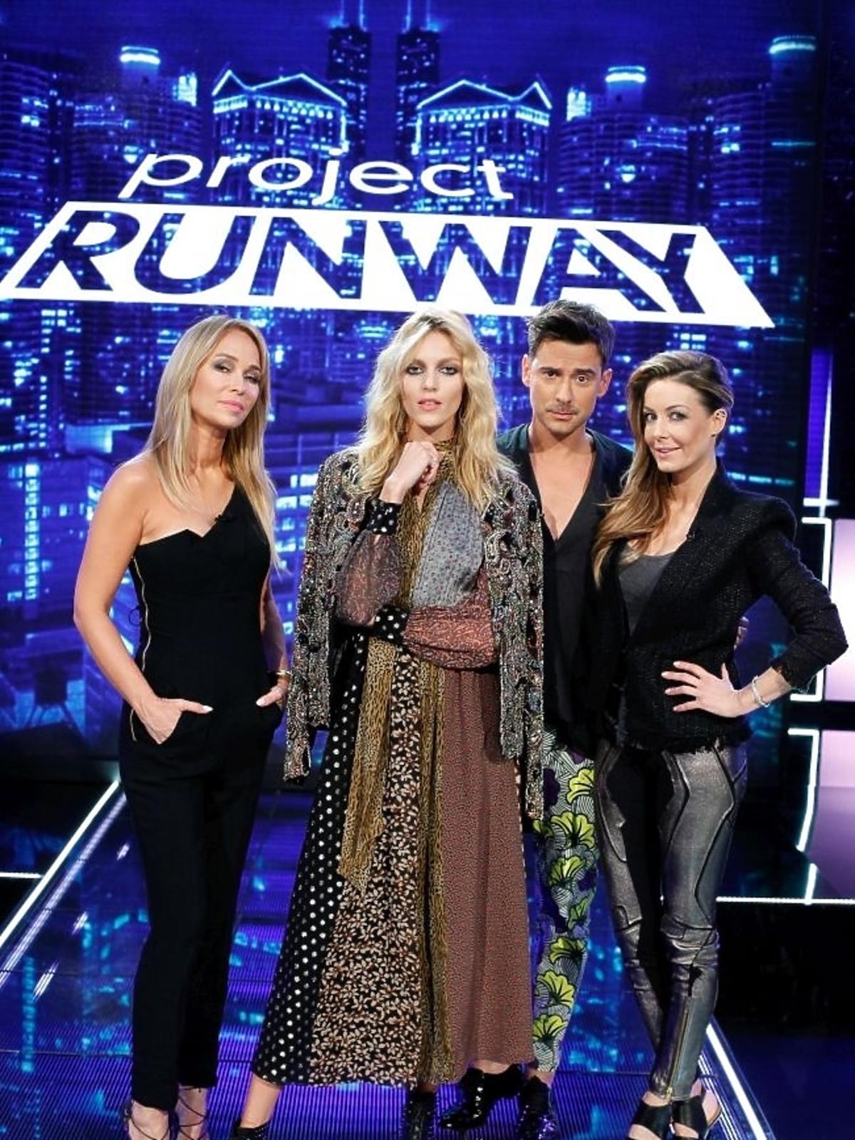 Małgorzata Rozenek, Marcin Tyszka, Anja Rubik i Joanna Przetakiewicz w Project Runway