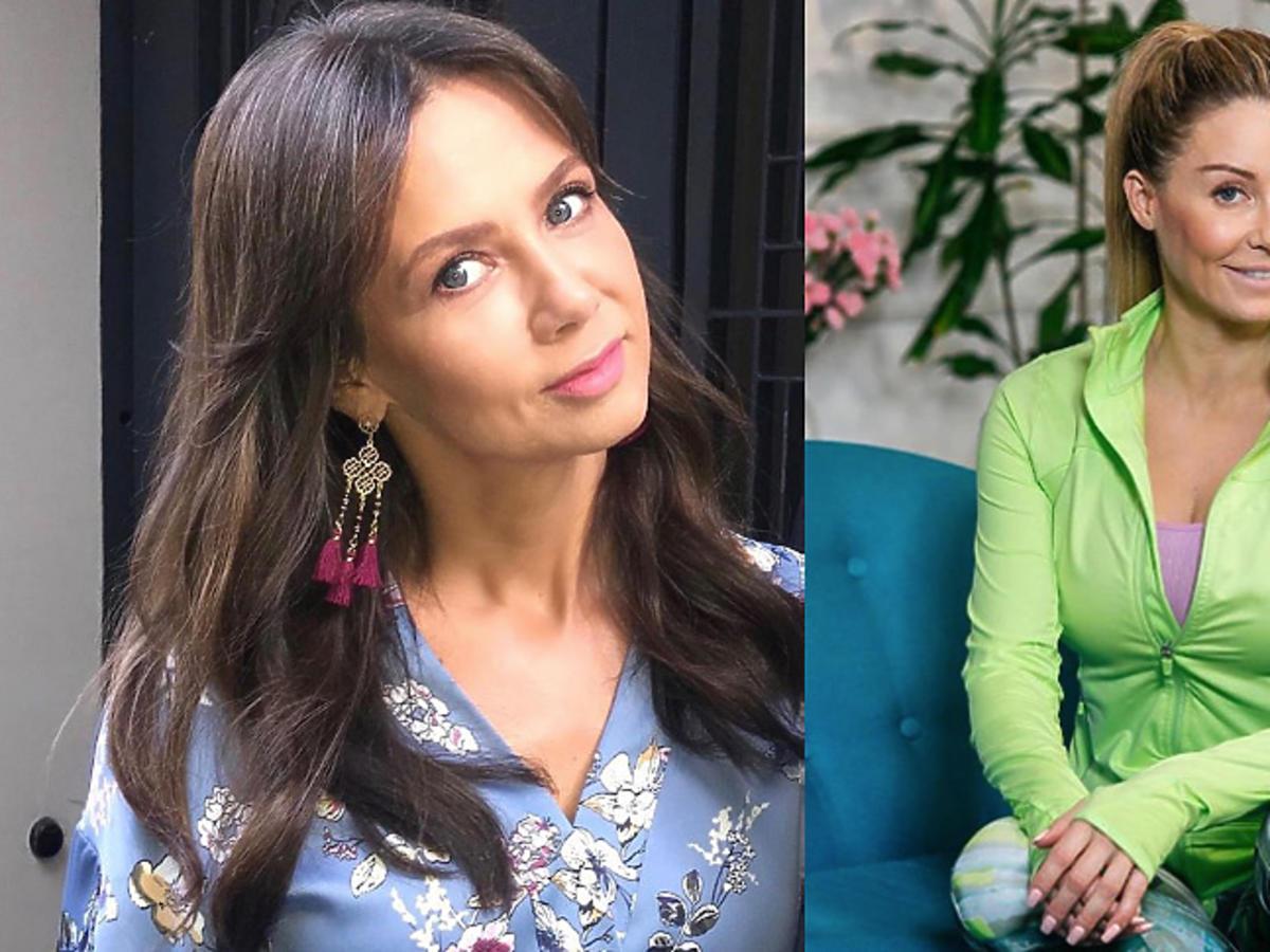 Małgorzata Rozenek na planie swojego programu, Kinga Rusin na Instagramie