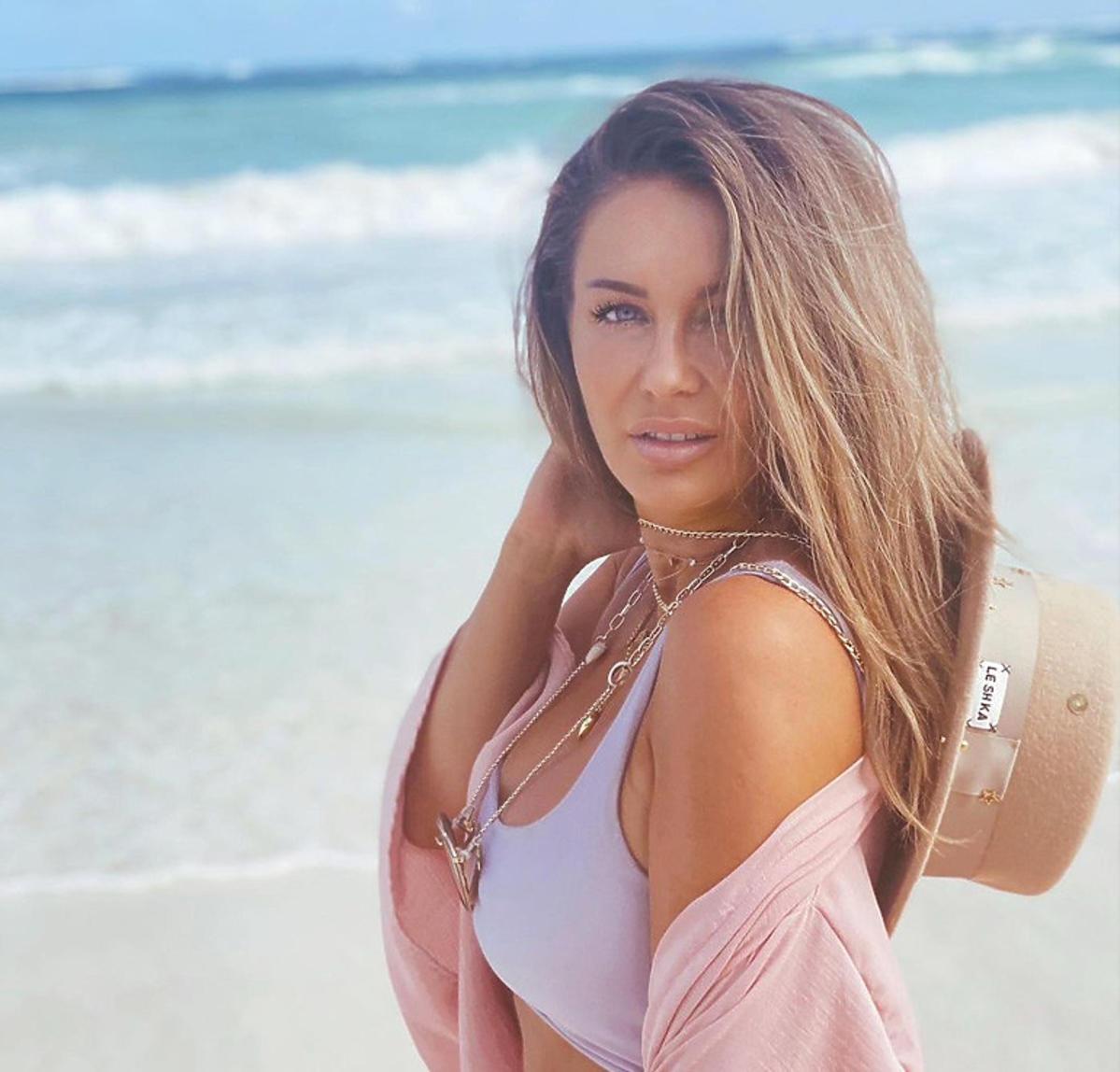 Małgorzata Rozenek na plaży