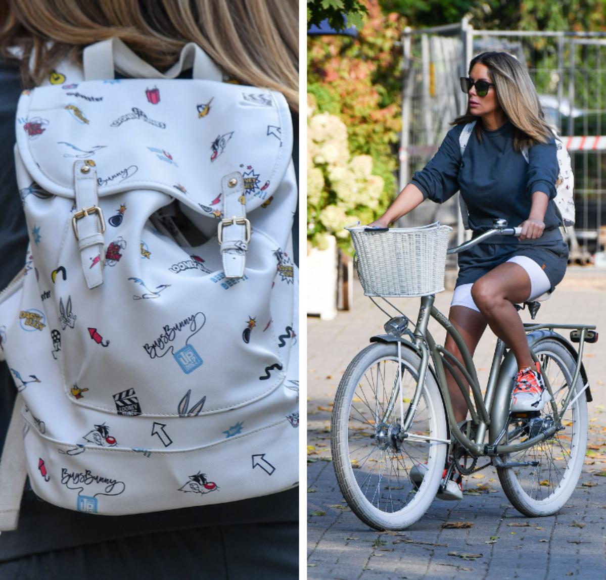 Małgorzata Rozenek na rowerze