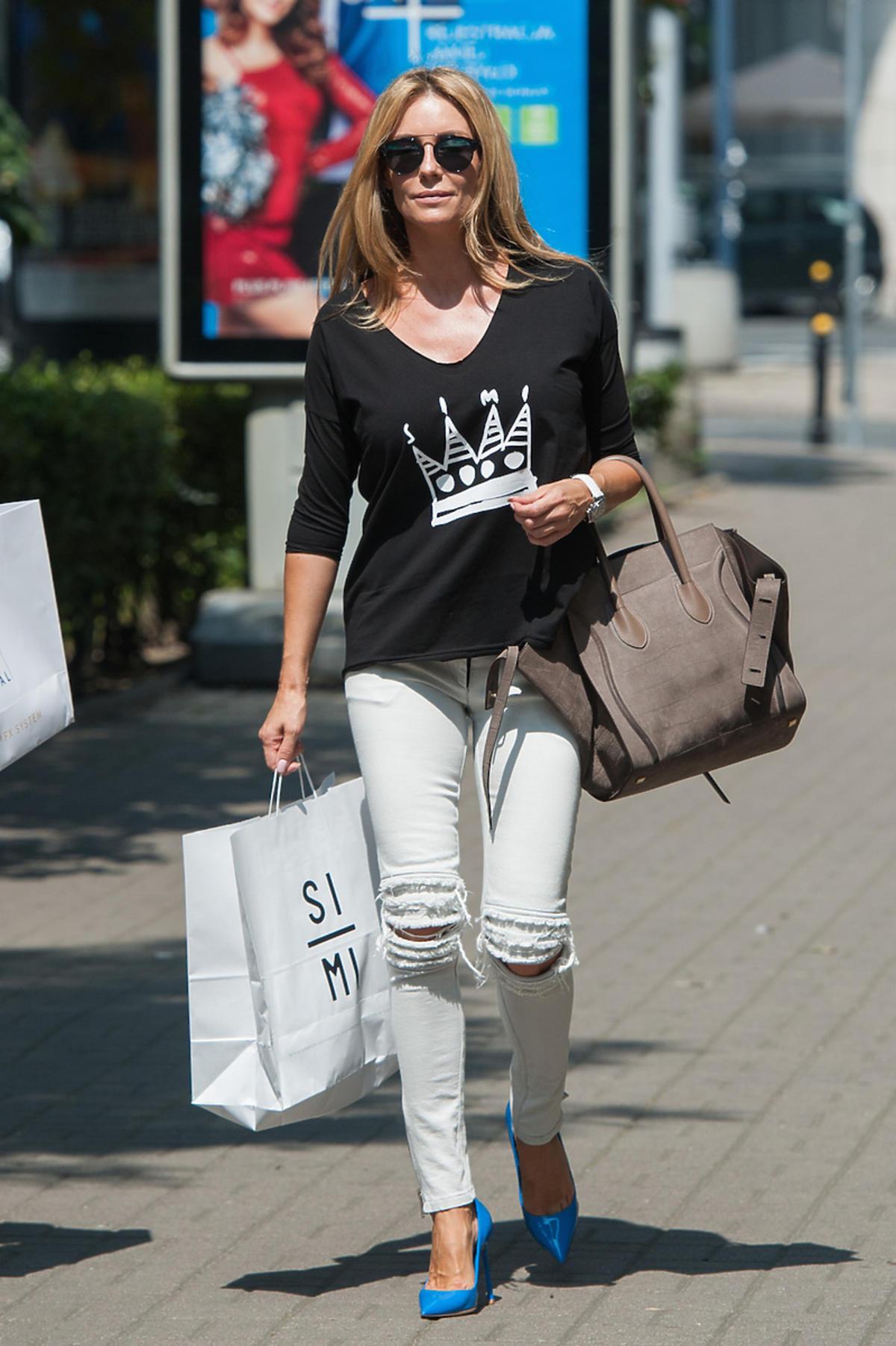 Małgorzata Rozenek na zakupach w looku SI-MI