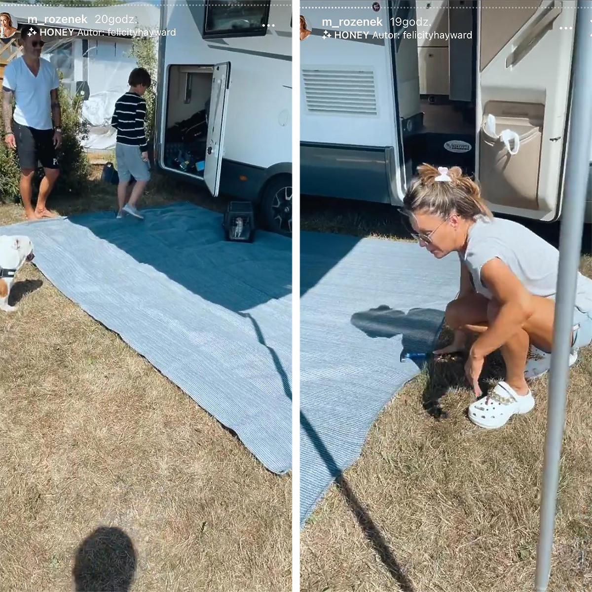 Małgorzata Rozenek niezadowolona z wakacji w kamperze