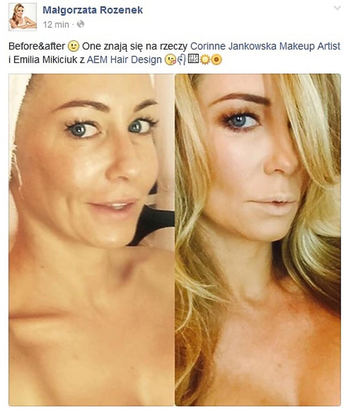 Małgorzata Rozenek pokazała jak wygląda bez makijażu
