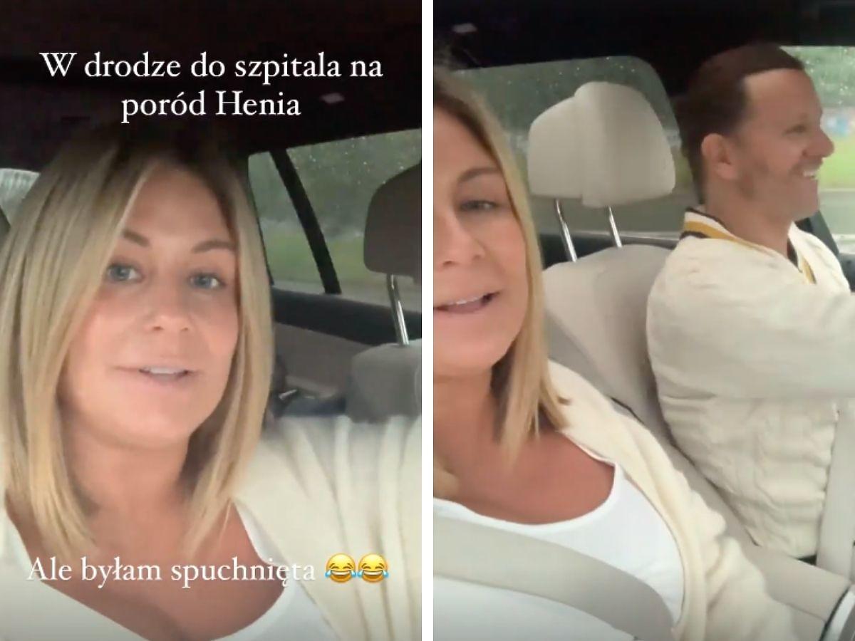 Małgorzata Rozenek pokazała nagrania z tuż przed i po narodzinach Henia