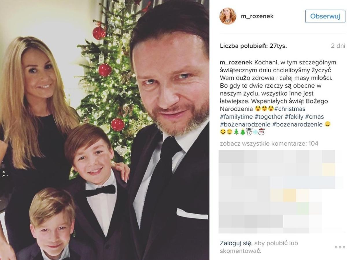 Małgorzata Rozenek pokazała, z kim  spędziła święta Bożego Narodzenia