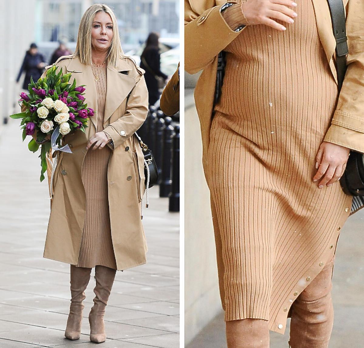 Małgorzata Rozenek w beżowej sukience