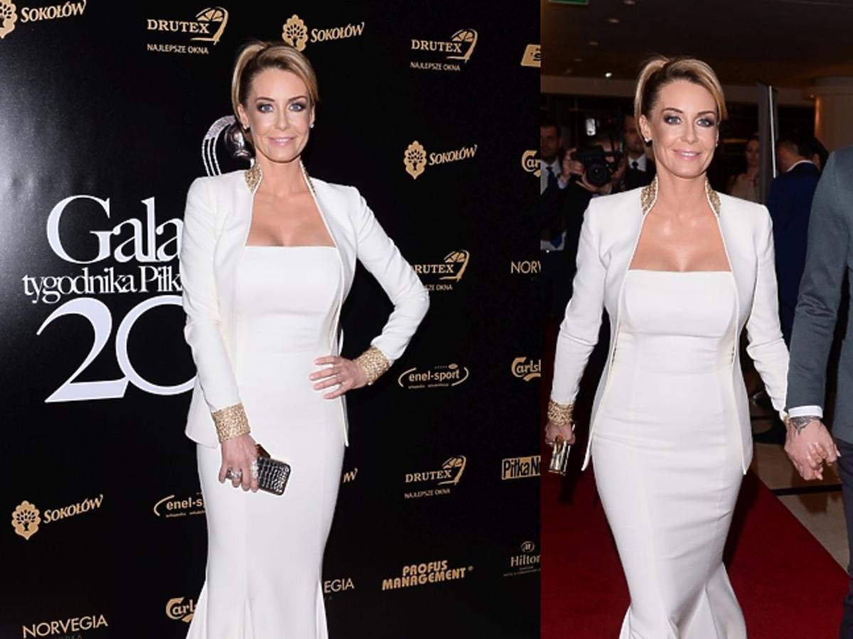 Małgorzata Rozenek w białej sukni
