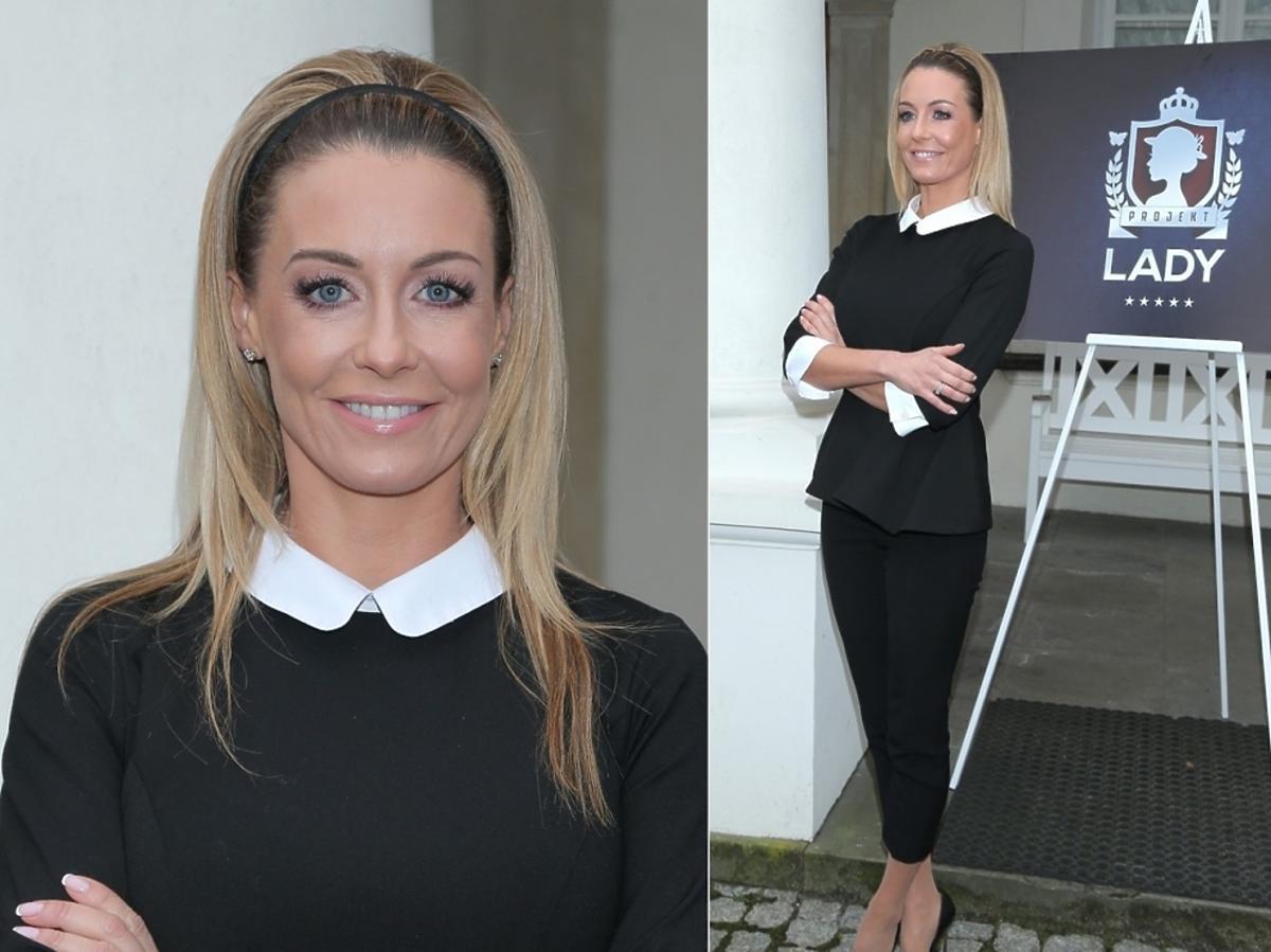 Małgorzata Rozenek w czarnej bluzce