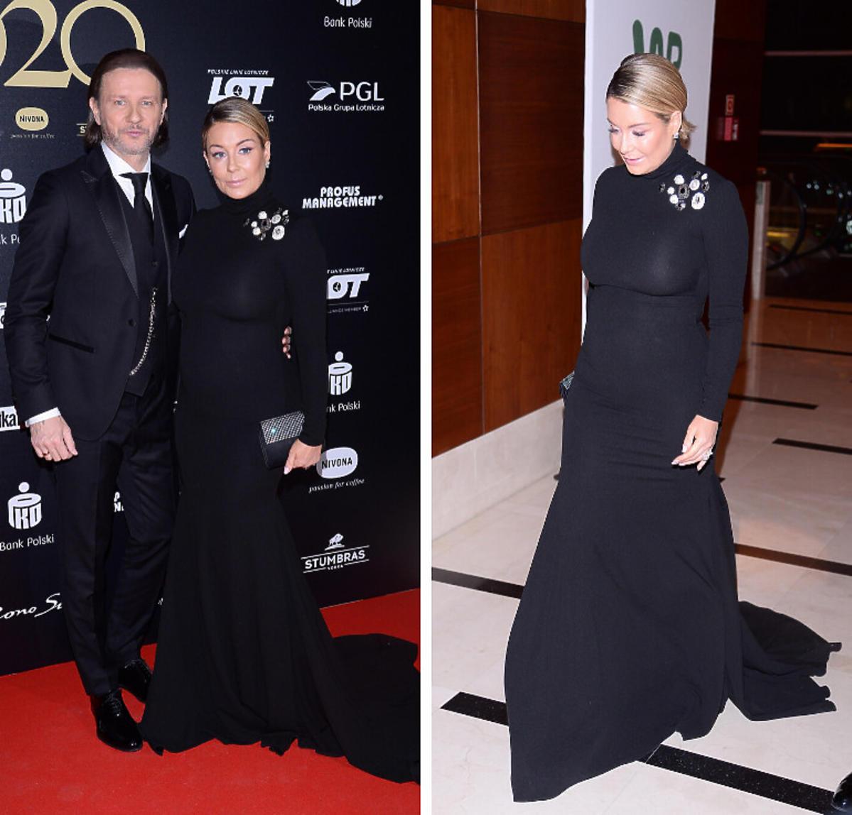 Małgorzata Rozenek w czarnej sukni