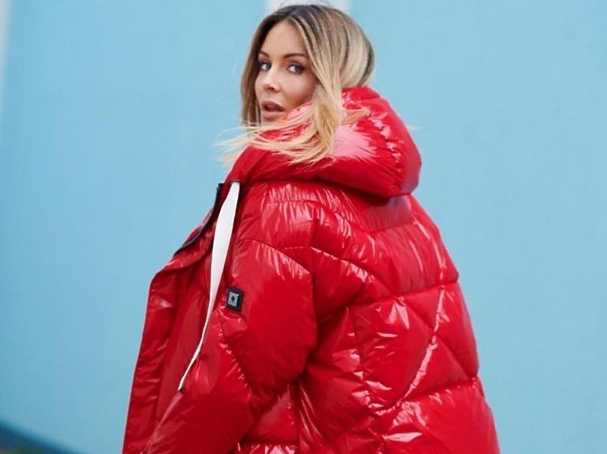 Małgorzata Rozenek w czerwonej kurtce