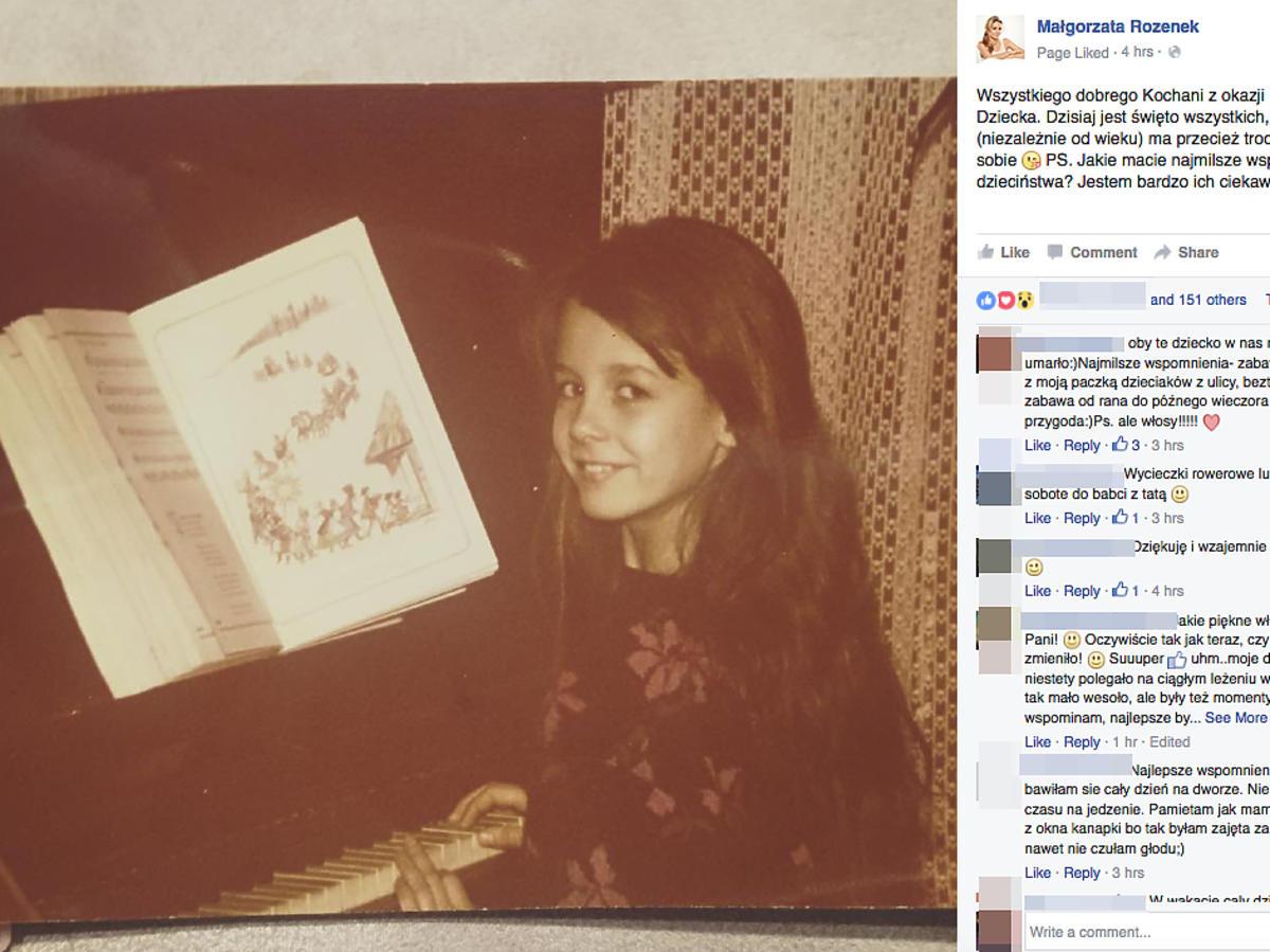 Małgorzata Rozenek w dzieciństwie
