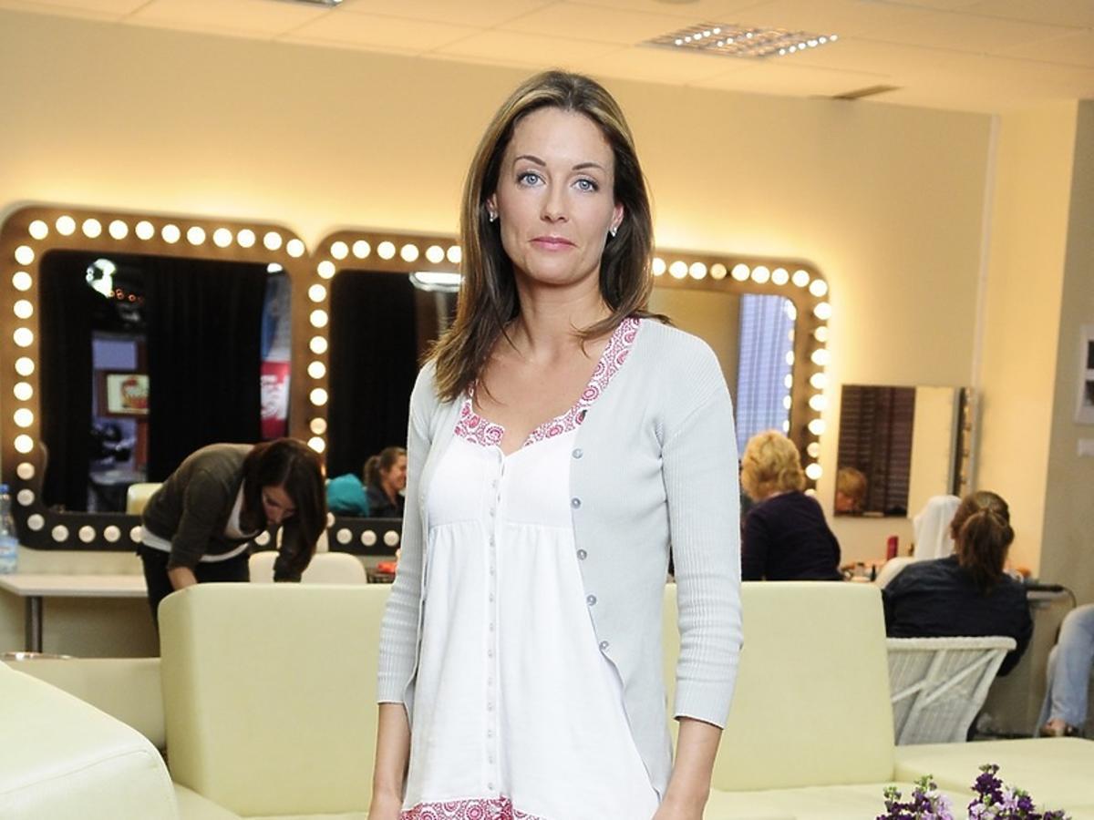 Małgorzata Rozenek w różowych szortach
