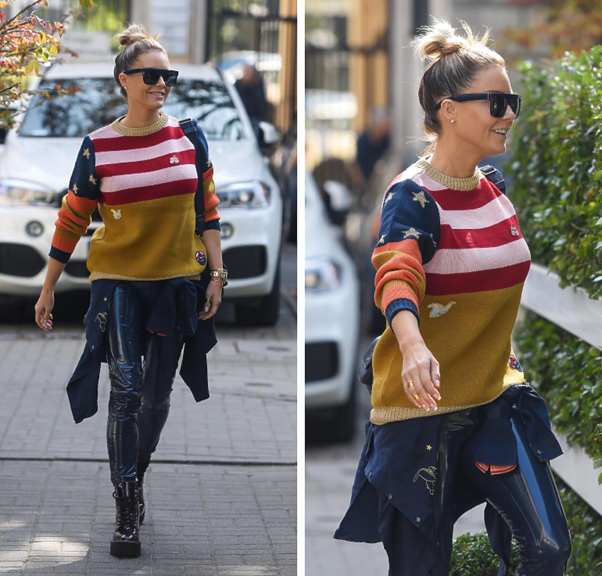 Małgorzata Rozenek w swetrze z amerykańskąflagą