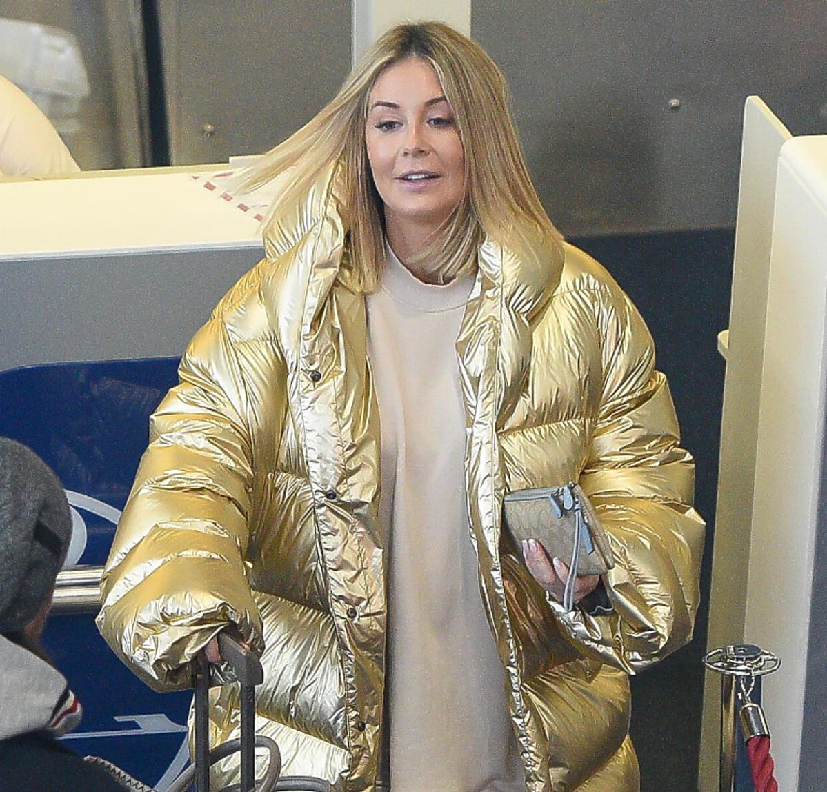 Małgorzata Rozenek w złotej kurtce