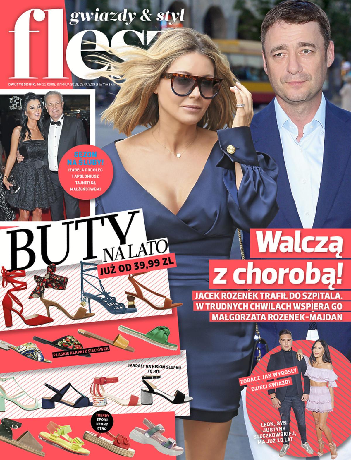 Małgorzata Rozenek walczy o zdrowie byłego męża. Okładka magazynu