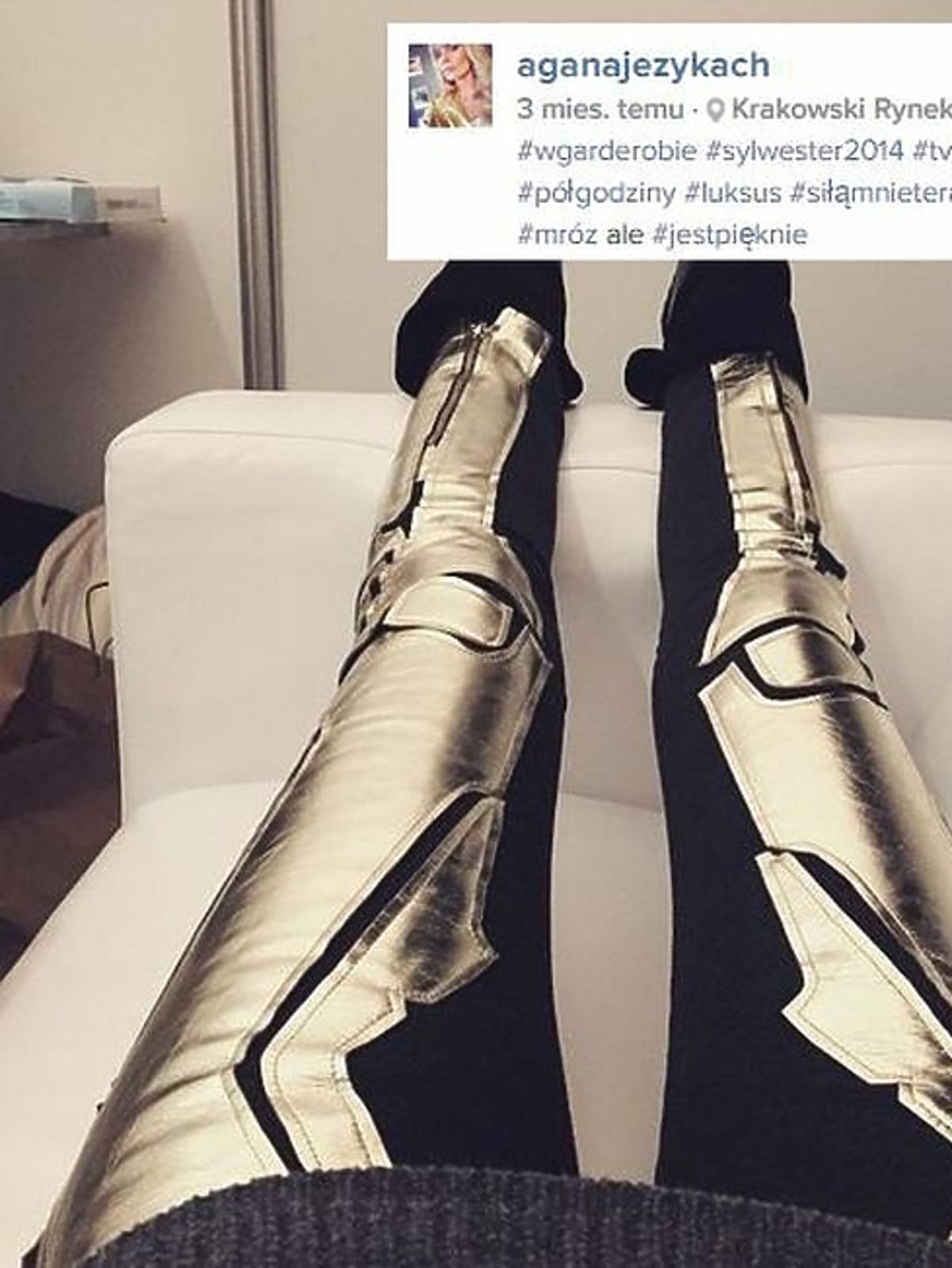 Małgorzata Rozenek wybrała takie spodnie jak Agnieszka Szulim