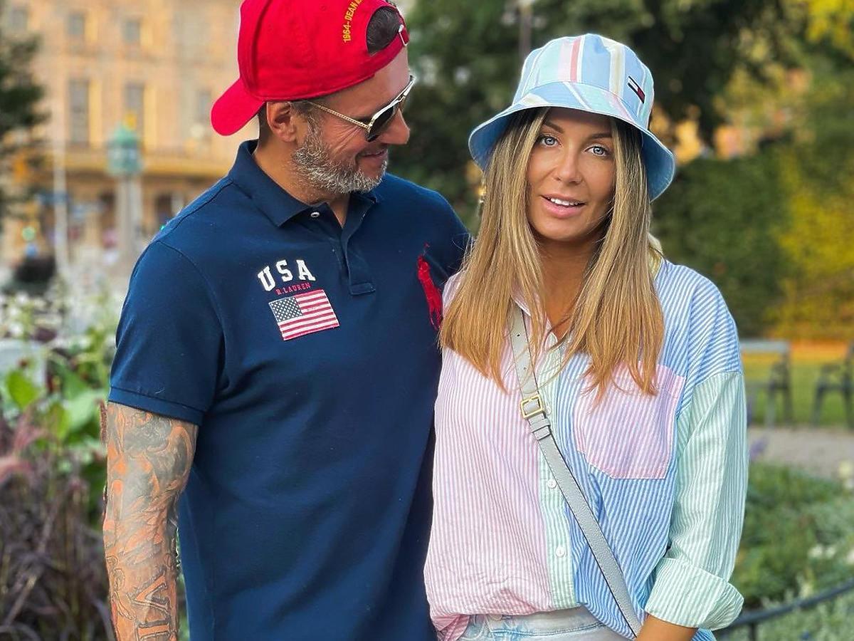 Małgorzata Rozenek z mężem w Sztokholmie