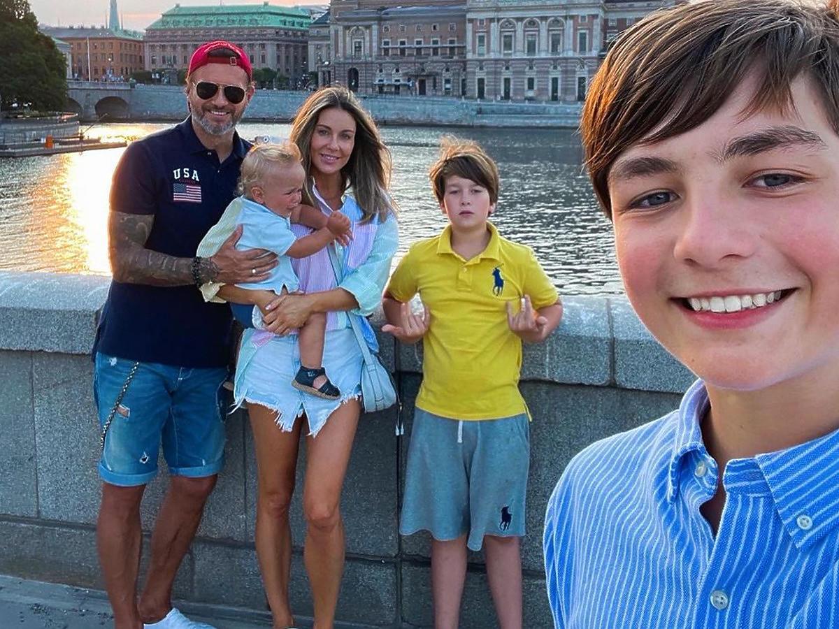 Małgorzata Rozenek z rodziną w Sztokholmie