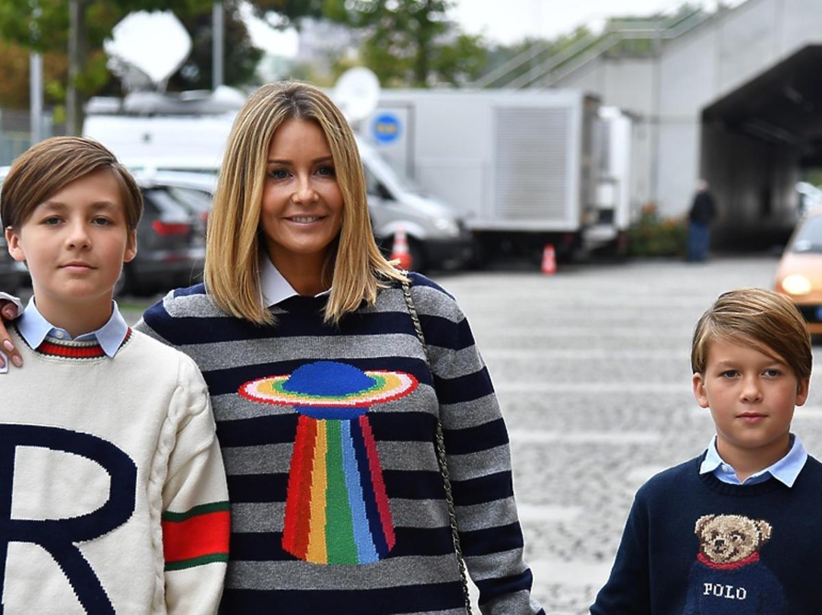 Małgorzata Rozenek z synami