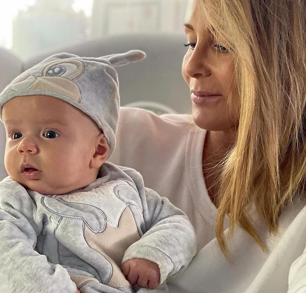 Małgorzata Rozenek z synem Heniem