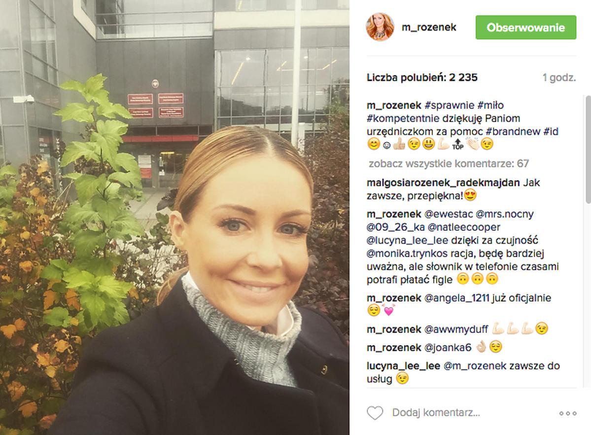 Małgorzata Rozenek zmieniła dowód