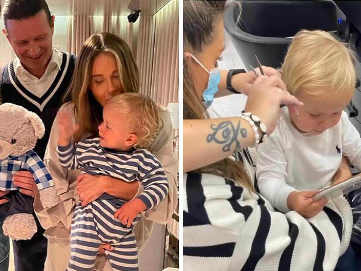 Małgorzata Roznek pokazała pierwszą wizytę synka u fryzjera. Henio jest nie do poznania!