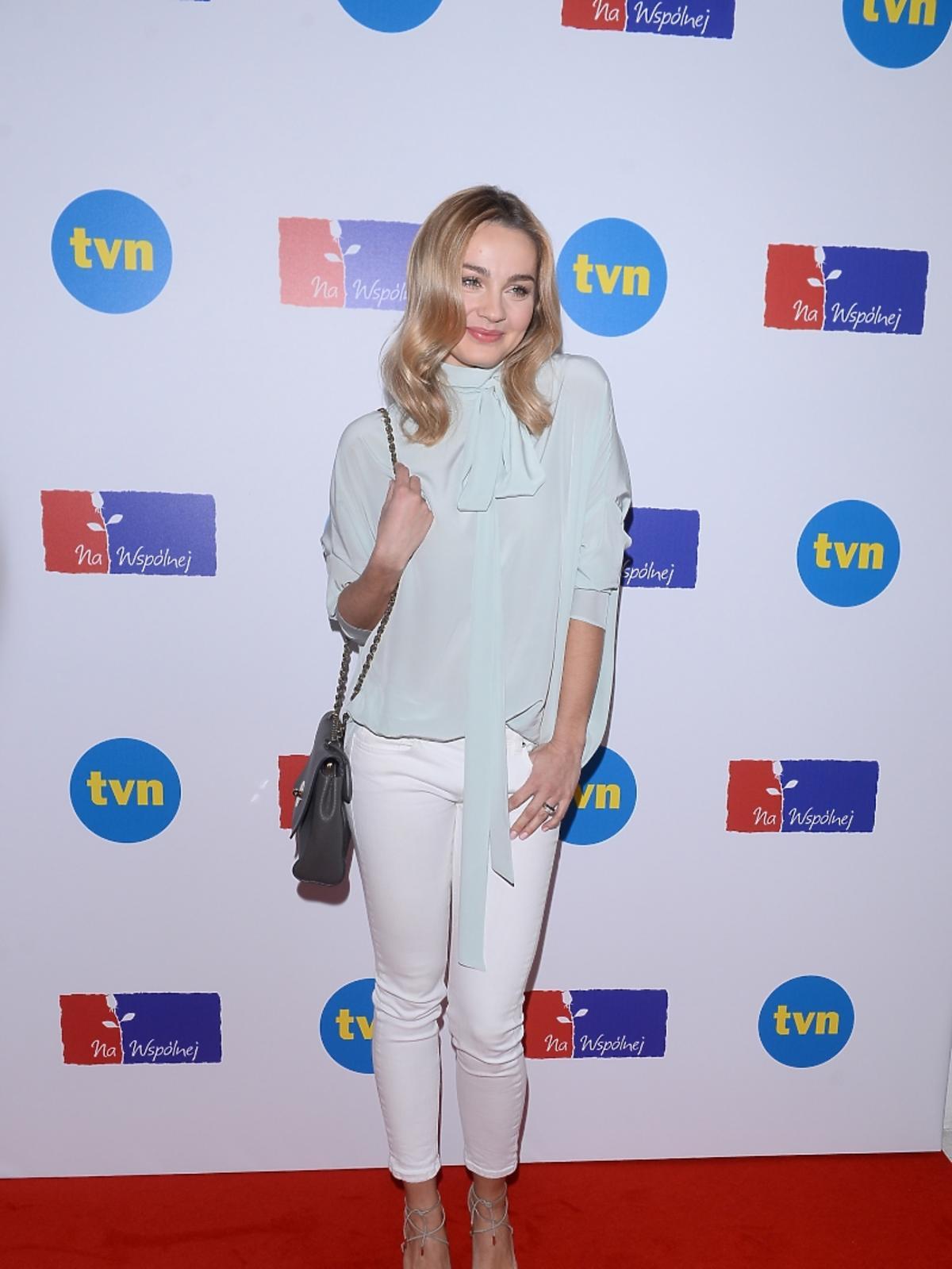 Małgorzata Socha na konferencji serialu