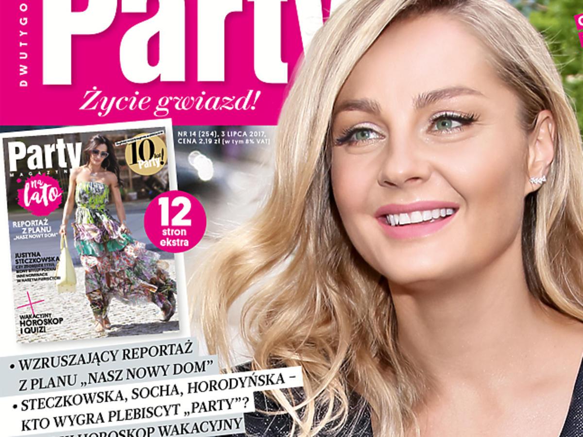 """Małgorzata Socha na okładce """"Party"""""""