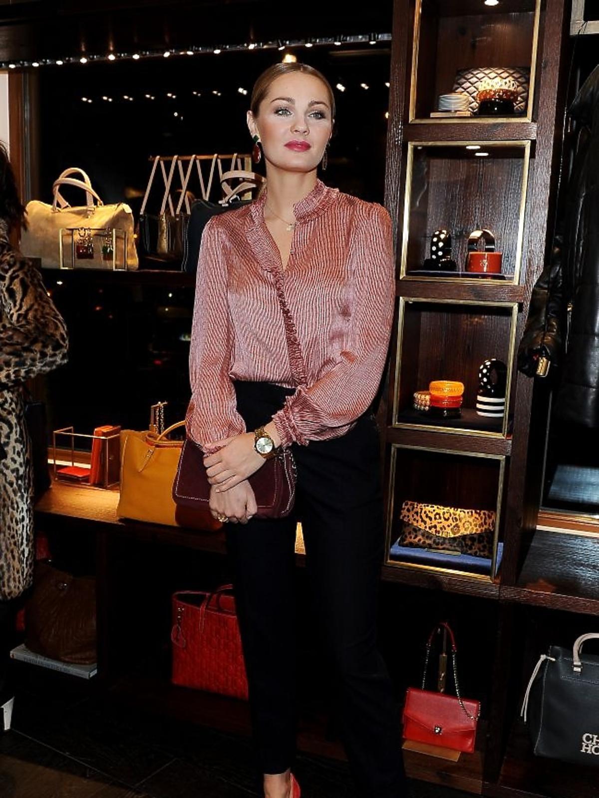 Małgorzata Socha na otwrciu butiku Caroliny Herrery w Zakopanem