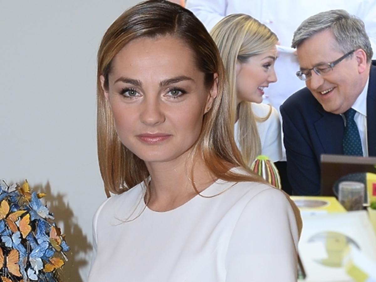 Małgorzata Socha na spotkaniu z parą prezydencką