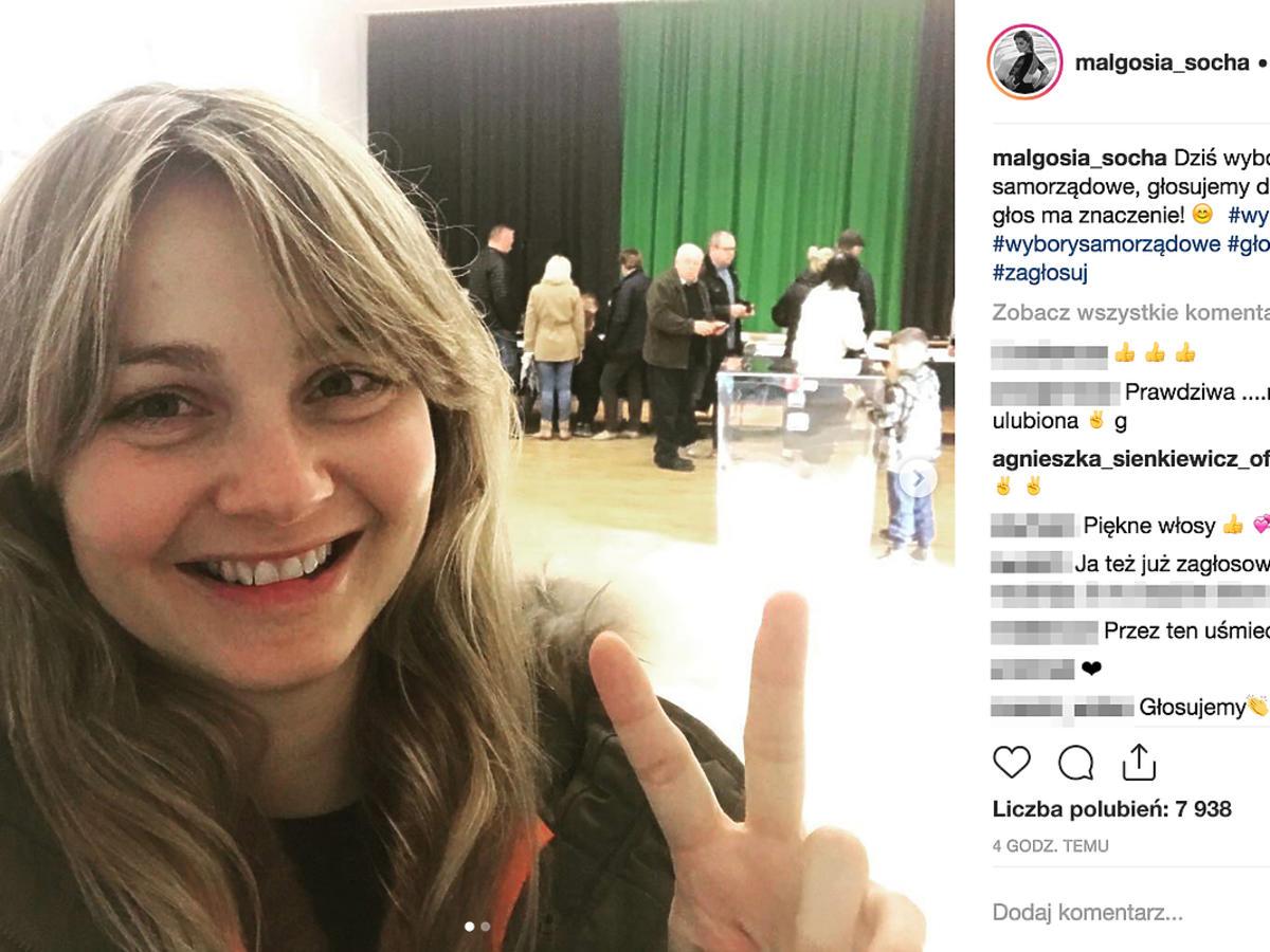 Małgorzata Socha na wyborach samorządowych
