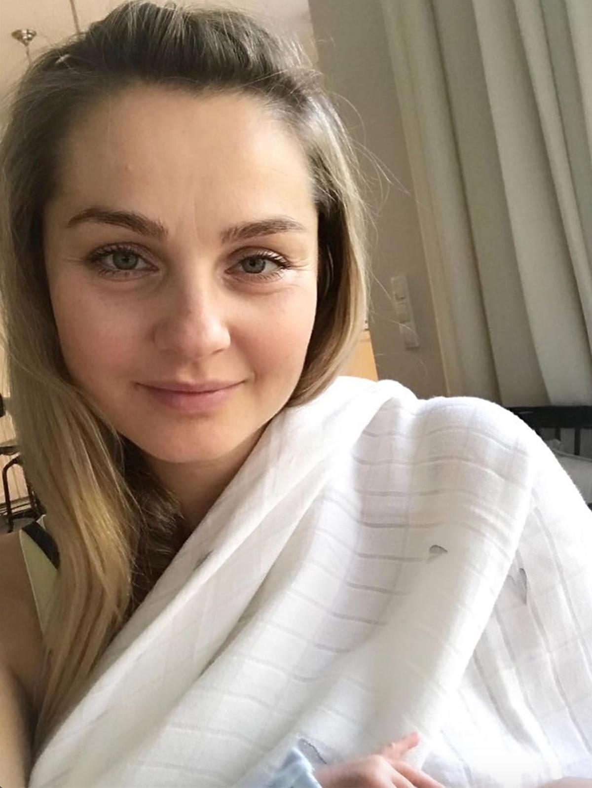 Małgorzata Socha po porodzie