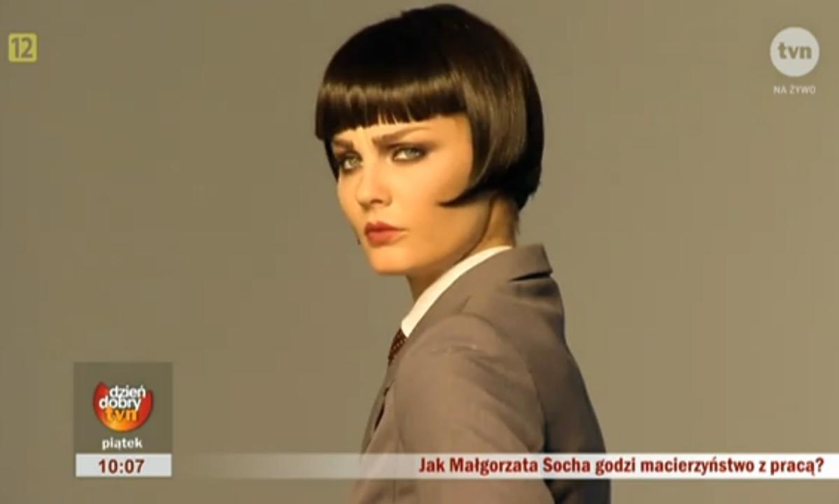 Małgorzata Socha w czarnych krótkich włosach