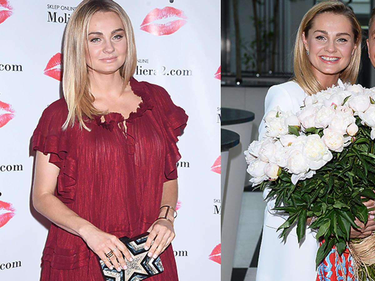 Małgorzata Socha w czerwonej sukience